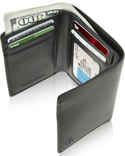 Vegan Leather Trifold Wallets For Men Cruelty Free Non Leath