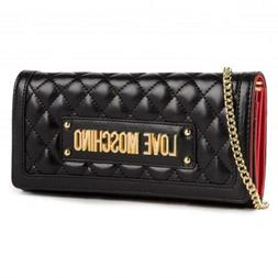 Wallet Big Women's Love Moschino Black Quilted Clutch Bag Wo