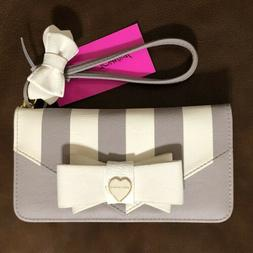 Betsey Johnson Wallet Double Entry Wristlet Removable Strap