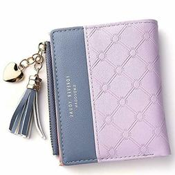 Buvelife Wallet for Girls Women Small Compact Bifold RFID Bl
