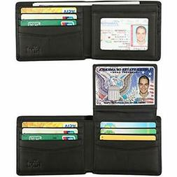 Wallet for Men-Genuine Leather RFID Blocking Bifold Stylish