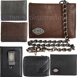 Dickies Wallet Mens Bifold or Trifold Leather Wallets Brown,