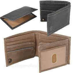 wallet mens pebble passcase genuine leather bifold