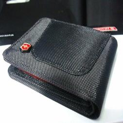 Wallet Slim For Men Victorinox Canvas Black Color For Credit