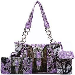 Western Style Camouflage Concealed Carry Purse Buckle Countr