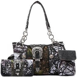western style camouflage concealed carry purse buckle