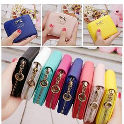 Women Girl Leather Small Cute Mini Wallet Card Holder Coin P