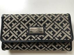Tommy Hilfiger Women's Checkbook Wallet Signature Black NWT