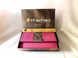 Carhartt Women's Clutch Wallet with Checkbook Cover Pink Cam