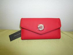 TOMMY HILFIGER Women's RED Wallet Organizer Clutch with Chec