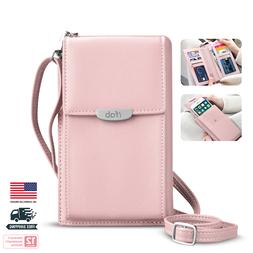 Women Small Crossbody Bag, ifab Cell Phone Purse Wallet w/Cr