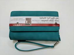 womens big fat wallet with safe keeper