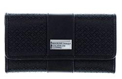 Tommy Hilfiger Womens Continental Wallet Monogram Fabric Lar