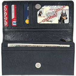 Access Denied Womens RFID Blocking Wallet Leather Accordion